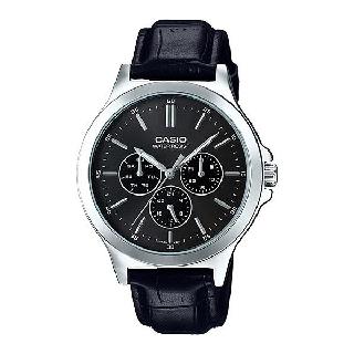 [Mã FARSBR153 giảm 15% đơn 150K] Đồng hồ nam dây da chính hãng Casio MTP-V300L-1AUDF