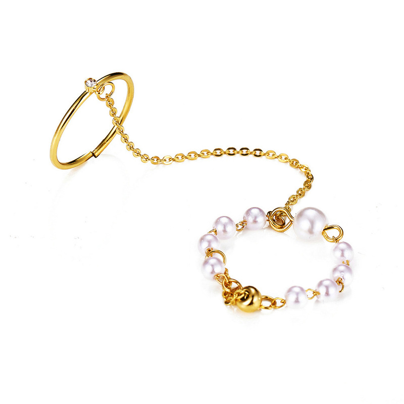 [Mã FASHIONCB264 giảm 10K đơn bất kỳ] Nhẫn Ngọc Trai Đơn Giản Cho Nữ