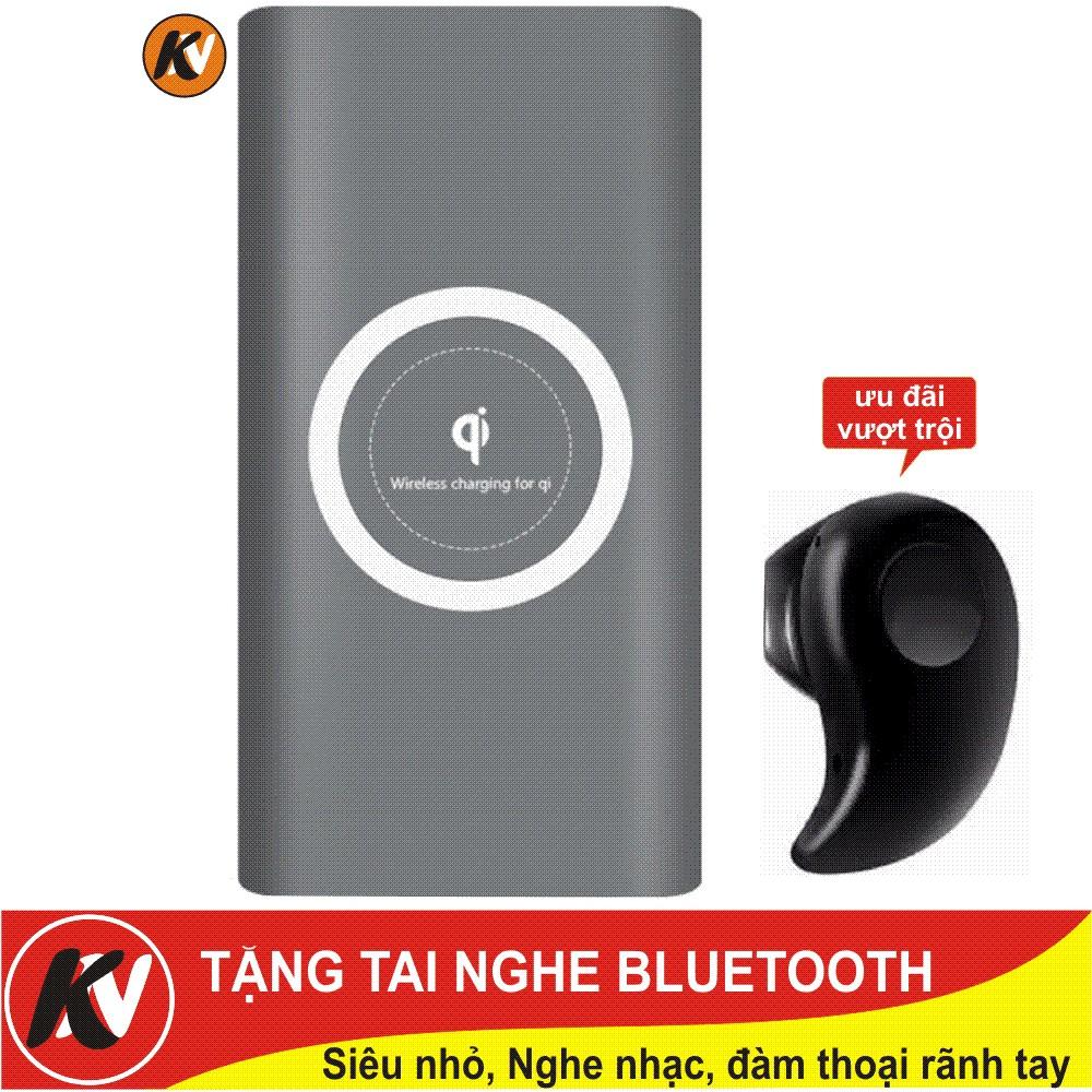 Combo Sạc dự phòng kiêm sạc không dây QI 10.000mAh + Tai nghe Bluetooth siêu nhỏ - 3358183 , 1201695922 , 322_1201695922 , 299000 , Combo-Sac-du-phong-kiem-sac-khong-day-QI-10.000mAh-Tai-nghe-Bluetooth-sieu-nho-322_1201695922 , shopee.vn , Combo Sạc dự phòng kiêm sạc không dây QI 10.000mAh + Tai nghe Bluetooth siêu nhỏ