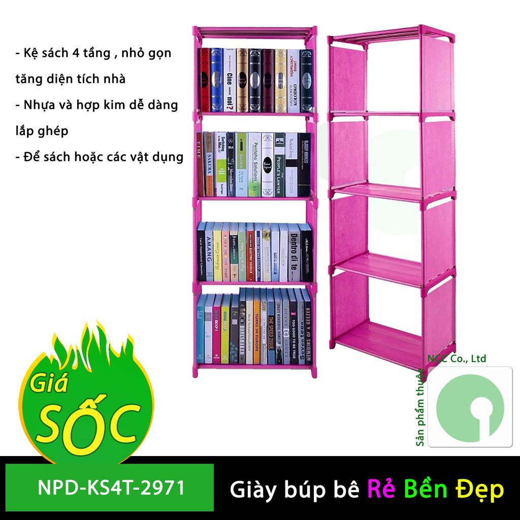 Kệ sách lắp ghép 4 tầng giá rẻ - phù hợp sinh viên thuê phòng trọ cần không gian - NPD-KS4T-2971 (nh - 9996536 , 1290347848 , 322_1290347848 , 229000 , Ke-sach-lap-ghep-4-tang-gia-re-phu-hop-sinh-vien-thue-phong-tro-can-khong-gian-NPD-KS4T-2971-nh-322_1290347848 , shopee.vn , Kệ sách lắp ghép 4 tầng giá rẻ - phù hợp sinh viên thuê phòng trọ cần không