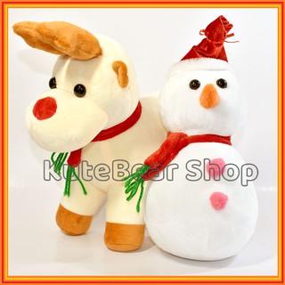 [NEW] Gấu Bông Tuần Lộc Noel – Quà Tặng Giáng Sinh – Size ~35CM