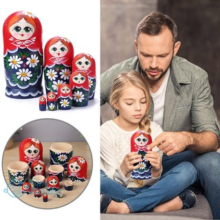 💕[IN STOCK/COD]💕1 Set Russian Matryoshka Nesting Doll Toy DIY Wooden Craft Ornament