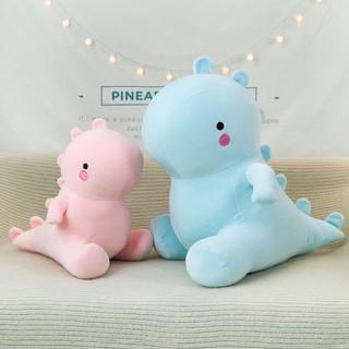 Gấu bông khủng long má hồng 2 màu xanh hồng dễ thương kích thước 40-50-60cm