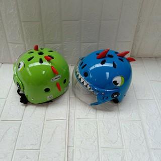Mũ bảo hiểm khủng long kèm kính cho bé
