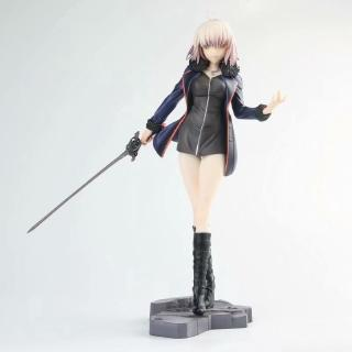 Anime FGO Fate Grand Order Black Stand Avenger Joan of Arc Jeanne D'Arc PVC Figure Collectible Model Toy