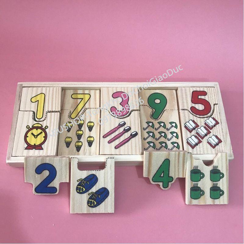 Đồ Chơi Gỗ – Đồ chơi giáo dục học đếm và ghép số HÀNG VIỆT NAM – Dễ học, dễ chơi, an toàn, bền đẹpA18