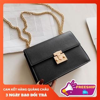 Túi xách nữ công sở 🍒 FREE SHIP 🍒 Giảm 10K Khi Nhập [TUI XACH NU]  Túi nữ vuông phối dây xích thanh lịch