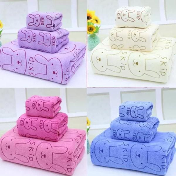 Combo 2 Set 3 khăn tắm Thái Lan Kiba mềm mịn