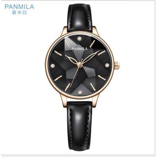Đồng hồ nữ Panmila P0241M hàng chính hãng dây da bóng mặt 3D sang trọng thumbnail