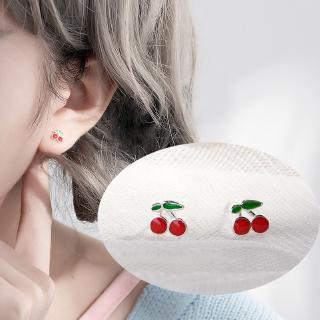 Khuyên tai hình quả cherry phong cách thời trang thumbnail