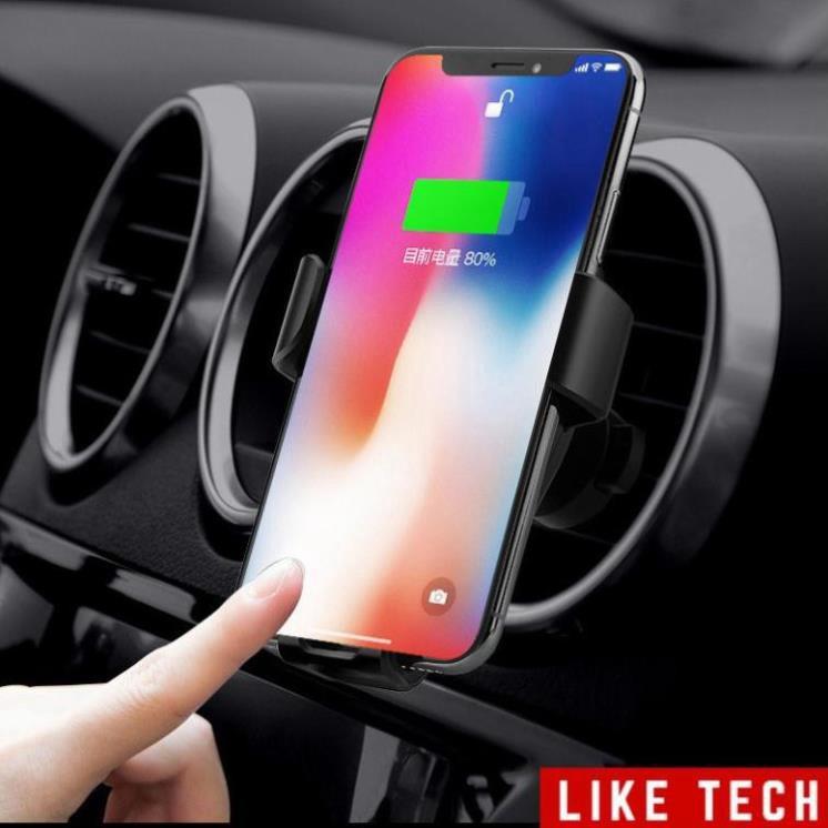 Giá đỡ kiêm sạc nhanh không dây trên ô tô - Đế sạc không dây cho điện thoại trên ô tô công suất 10W