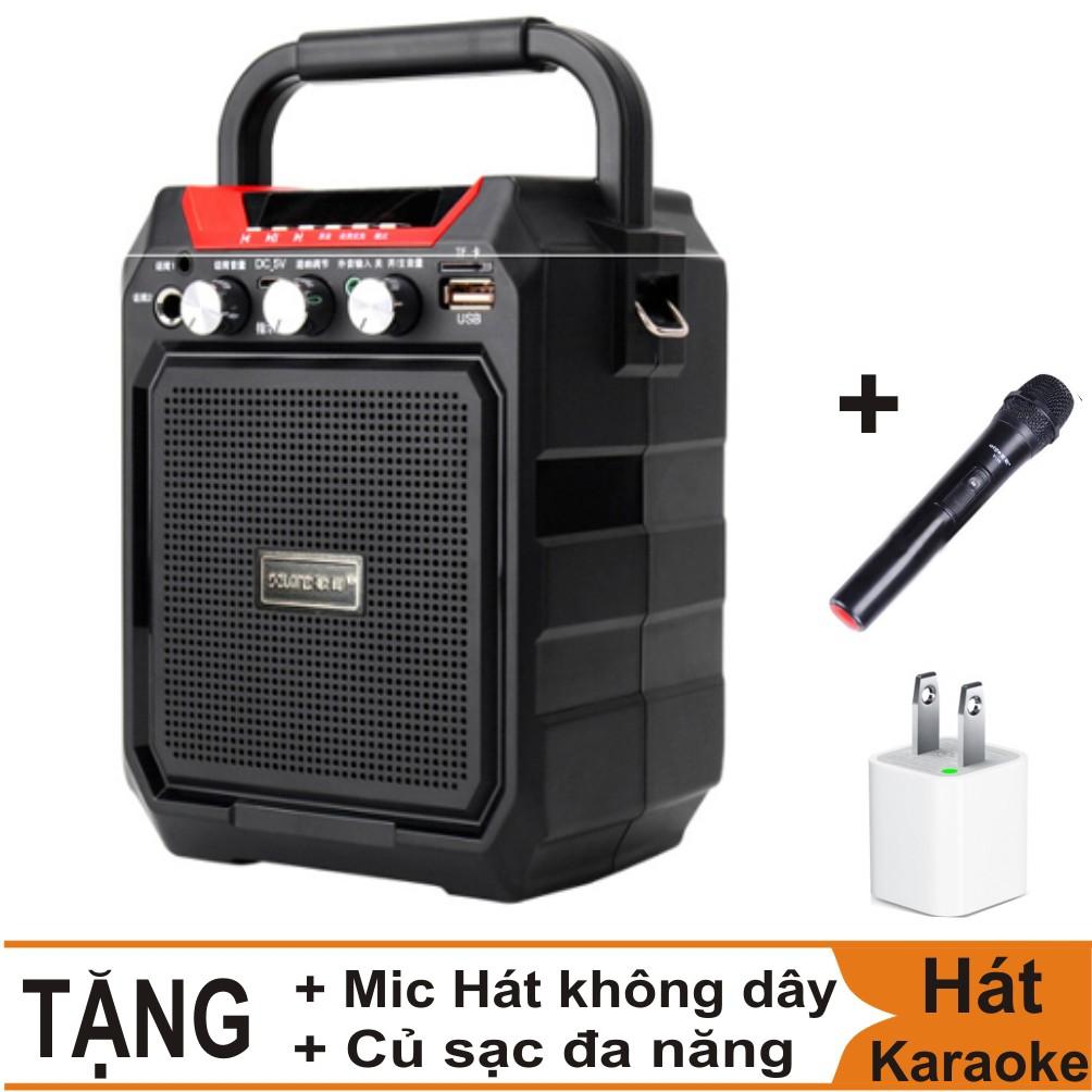 Combo Loa Vali Hát Karaoke Bluetooth S15 + Míc hát không dây + củ sạc đa năng