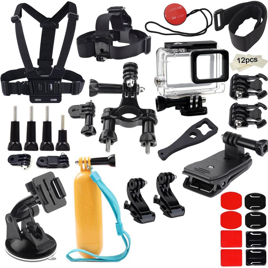 Accessories for GoPro Hero 7 Black/Hero 6/ Hero 5/ Hero 2018 Action Camera Include Waterproof Housing Case Chest Head