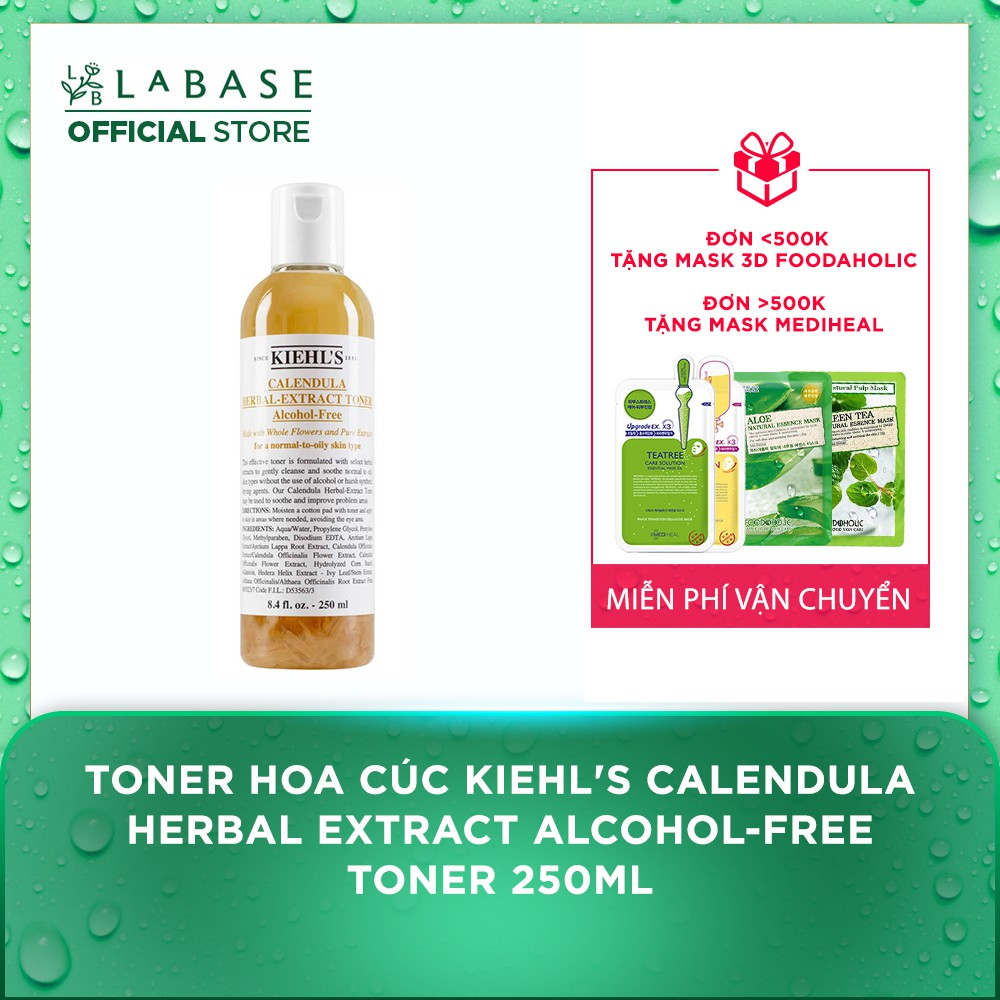 Toner hoa cúc Kiehl's Calendula Herbal Extract Alcohol-Free Toner 250ml