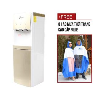 Cây nước nóng lạnh bình úp trên 3 vòi FujiE WDBD20C (lạnh Block cao cấp, có khóa vòi nóng) chính hãng bảo hành 2 năm