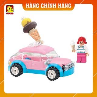 Xe đồ chơi lắp ráp 🌿 [Chính hãng Hàn Quốc]🌿 Lego xếp hình Xe Kem Oxford HS33912 gồm 86 mảnh ghép (8T+) an toàn cho bé