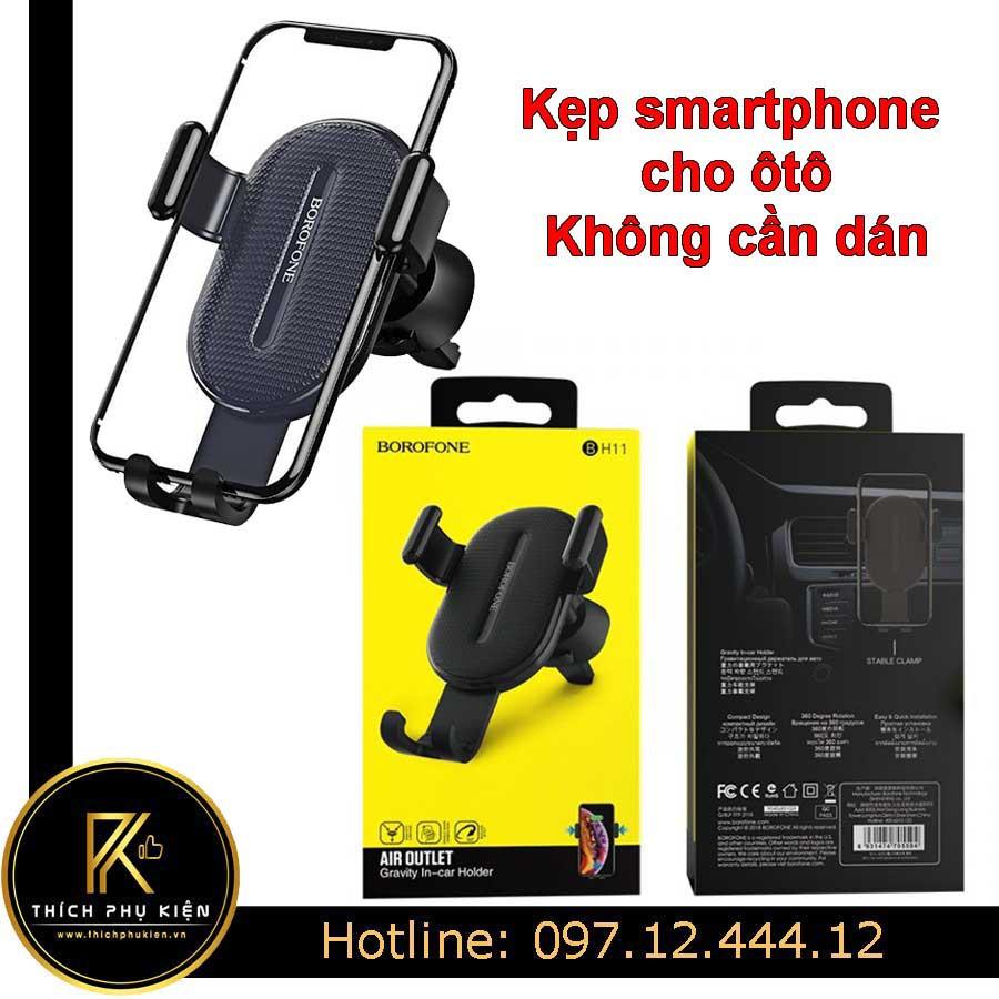 Kẹp - Giá Đỡ Điện Thoại Smartphone Trên Xe Hơi (Ôtô) Không Cần Dán Cố Định
