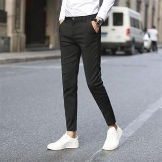 Quần tây nam (đen) ống côn dáng body, quần âu nam phong cách thời trang nam cao cấp OKU