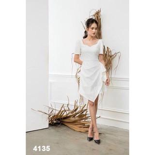 Đầm trắng dễ thương dự tiệc (Hàng thiết kế) HT Garment