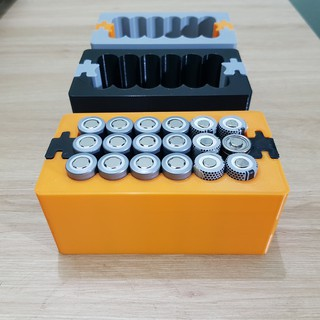 [DIY] Khuôn đóng cell pin 18650, tháo lắp mở rộng 6 cell 3 hàng