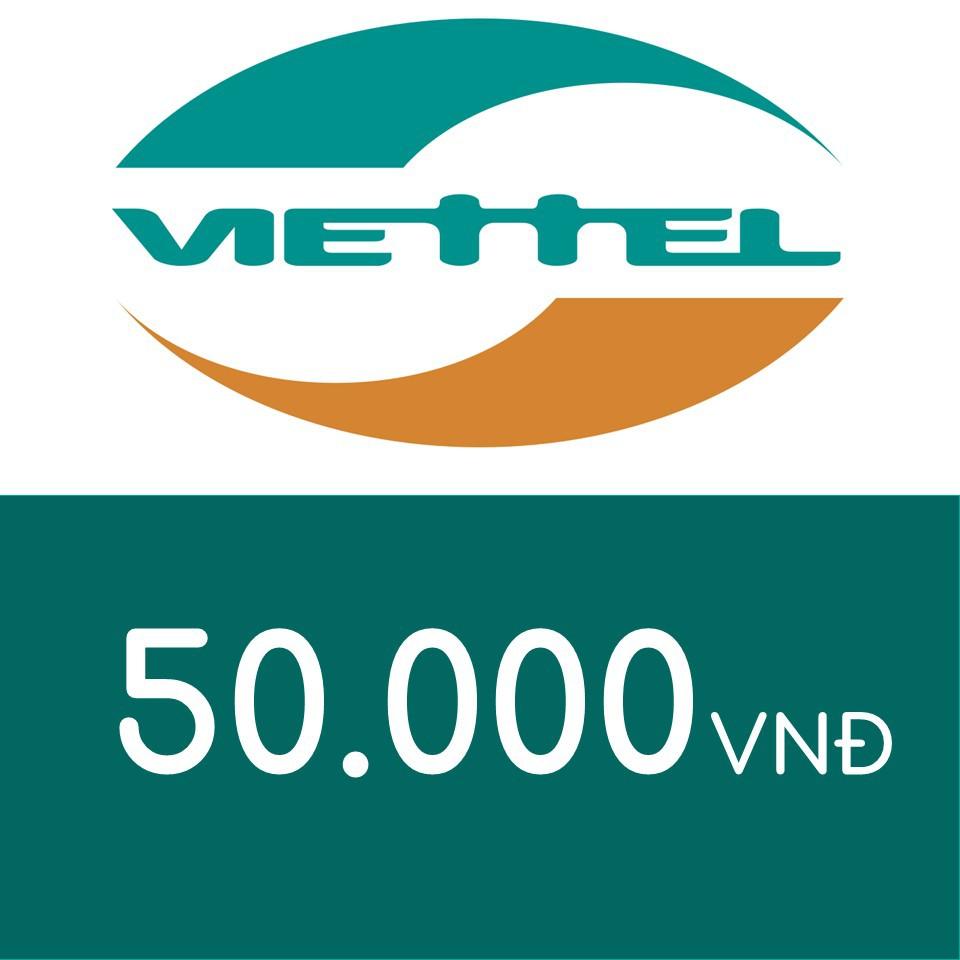 Nạp điện thoại Viettel 50K