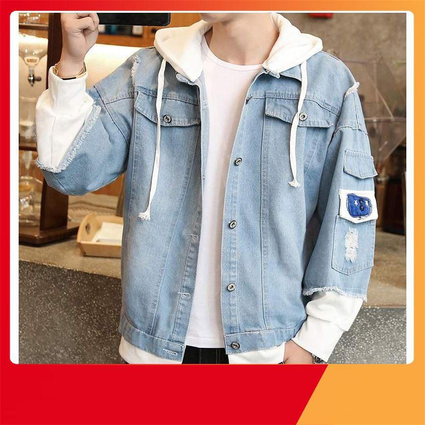 [ Sale Off ] áo khoác jean nam,khoác jean Unisex cao cấp KJC22 thời trang nam