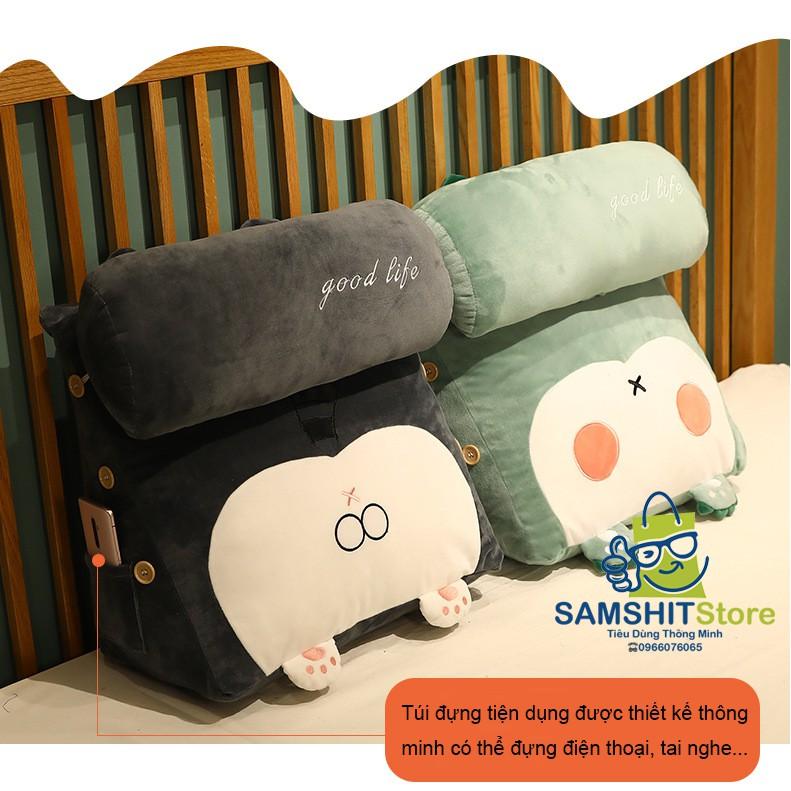 Gối Tựa Lưng Đầu Giường, Đệm Lưng Tatami Phong Cách Nhật Bản 3 Cấp Độ Cho Phòng Ngủ, Sofa, Văn Phòng - GTL24