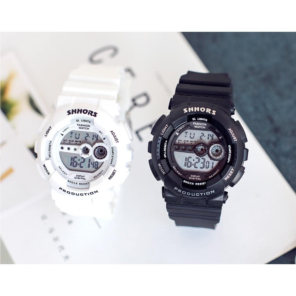 [Mã FAMAYFA2 giảm 10K đơn 50K] Đồng hồ nam nữ SHHORS điện tử thể thao chống nước DH18 Miucho
