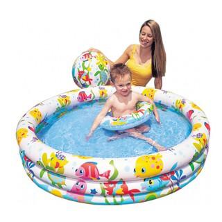 Bể bơi 3 chi tiết intex (1,32m x 28cm) – Hồ bơi intex tròn – Đồ chơi ngày hè cho trẻ