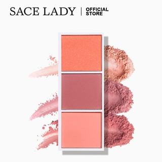 Bảng 3 màu má hồng SACE LADY hiệu ứng lì và mịn lên màu chuẩn chống nước trang điểm lâu trôi 4.5g 0.15oz thumbnail