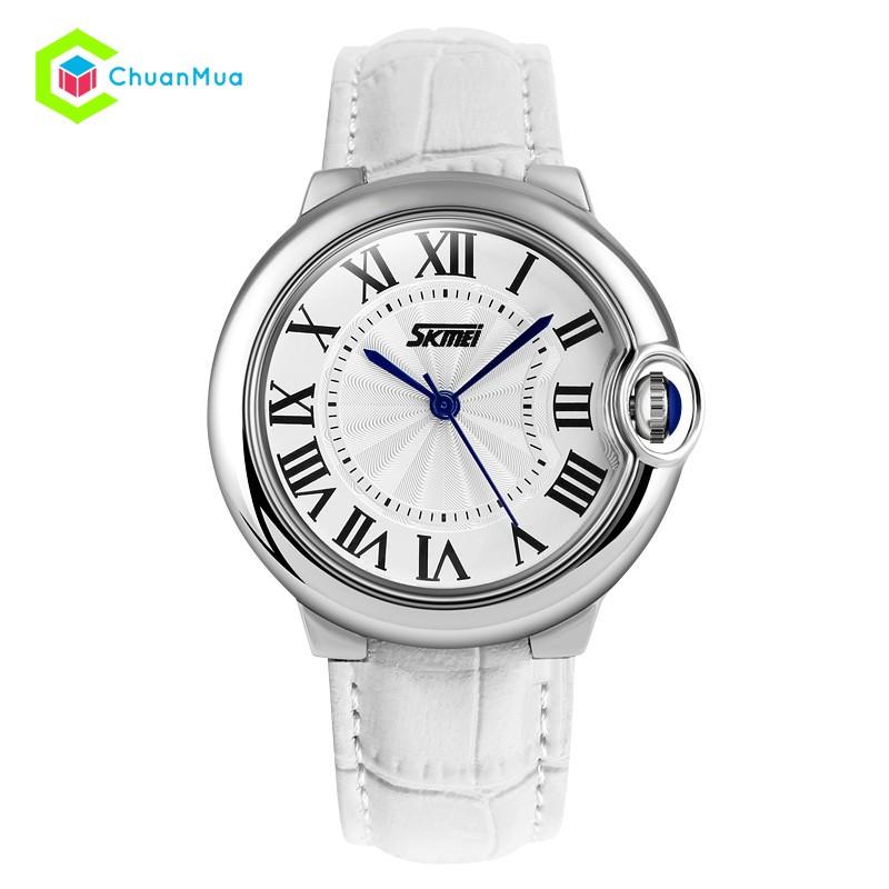 Đồng hồ Nữ dây da Skmei 9088 nguyệt thực DHA349-D1188