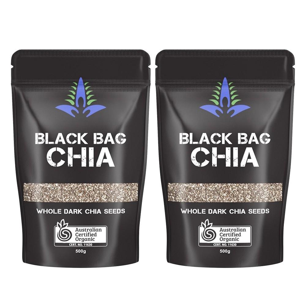 COMBO 2 BỊCH Hạt Chia đen Black Bag Úc Loại 1- túi 500g COMBO 2 BỊCH Hạt Chia đen Black Bag Úc Loại 1- túi 500g
