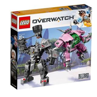 [HÀNG CÓ SẴN] Lego UNIK BRICK 75973 D.Va & Reinhardt trong Overwatch – Bộ lắp ráp D.VA và Reinhardt trong game Overwatch