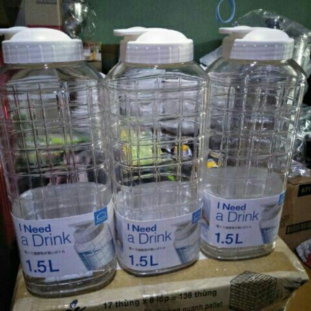 Combo 10 bình nước Pet lock and lock 1.5L. - 3417513 , 1340081056 , 322_1340081056 , 230000 , Combo-10-binh-nuoc-Pet-lock-and-lock-1.5L.-322_1340081056 , shopee.vn , Combo 10 bình nước Pet lock and lock 1.5L.