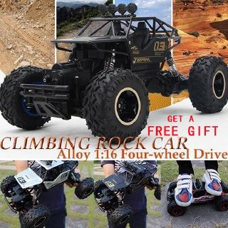 (Ready Stock-Fast Delivery)2.4G RC Car 4WD Monster Remote Control Vehicle Shaft Drive RC Truck Off-Road Racing Car Toy Car for Kids