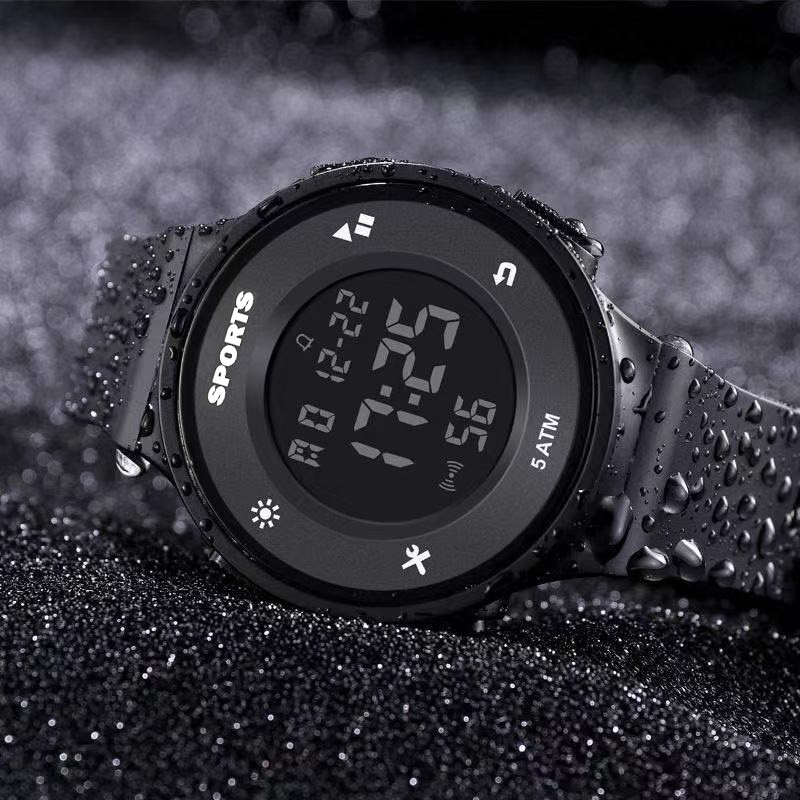 Đồng hồ điện tử nam nữ SPORTS SW720 đồng hồ thể thao sinh viên đèn led ban đêm, đầy đủ chức năng cơ bản dây nhựa silicon