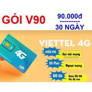 Sim 4G Viettel gói cước V90