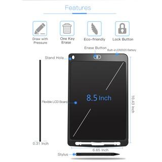 Mystyle Bảng Viết Thông Minh LCD Tự Xóa 8.5 Inch Cho Bé Tập Vẽ, Viết