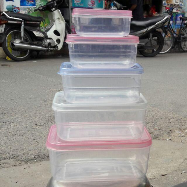 Bộ 5 hộp đựng thực phẩm Tân Lập Thành