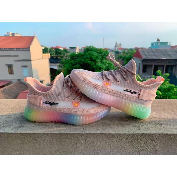Giày Sneaker Yz350 Hoa Cúc 7 Màu Cho Nữ Cao Cấp