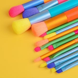 Set cọ trang điểm 15 chiếc nhiều màu hình dáng dễ tán chuyên nghiệp