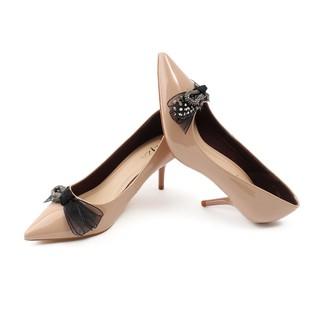 Aliza - Giày công sở gót nhọn 5cm đính nơ điệu đà V94 thumbnail