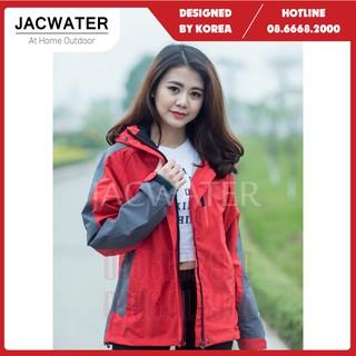 Áo khoác gió nam nữ 2 lớp chống nắng nước size châu á, vải gore tex thể thao JACWATER V350