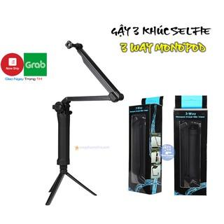 [Mã ELFLASH5 giảm 20K đơn 50K] Gậy 3 Khúc Selfie Gopro – 3 Way Monopod Action Camera