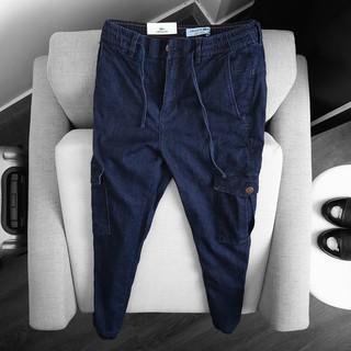Yêu Thích+Quần jeans bò jogger túi hộp co dãn 4 chiều cao cấp
