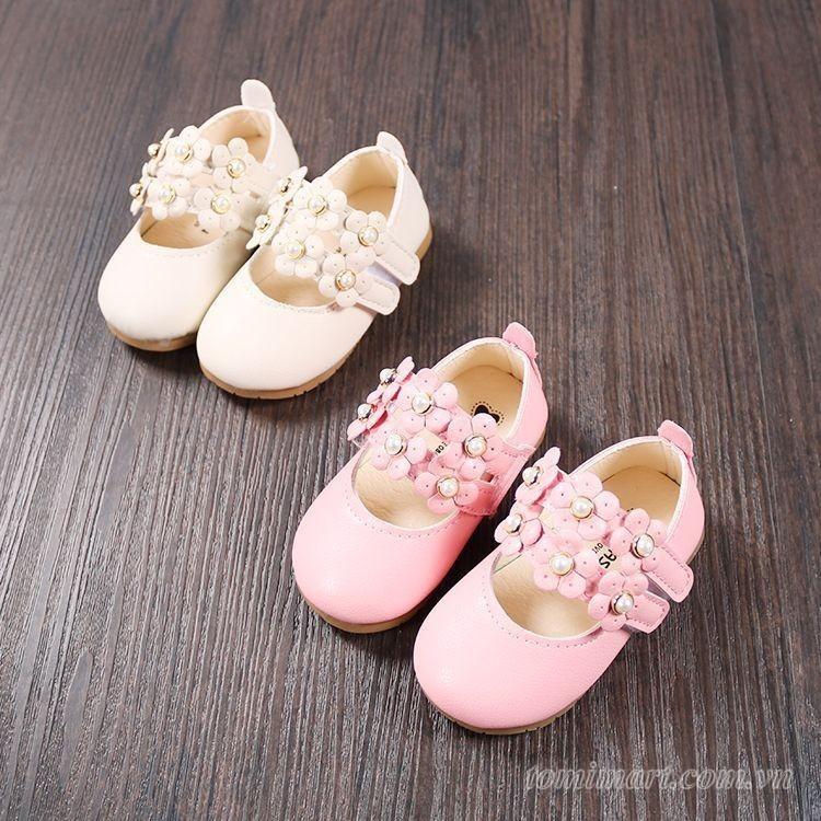 Giày búp bê đính ngọc cho bé