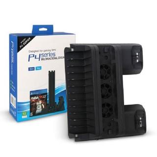 Chân đế quạt tản nhiệt + sạc tay cầm 3 in 1 cho PS4 ,PS4 Slim vàPs4 Pro thumbnail