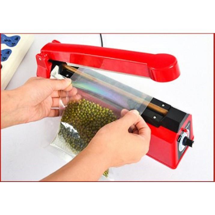 Máy dán, hàn miệng túi nilon đóng gói thực phẩm dập tay (Hàng được yêu thích của Agiadep)
