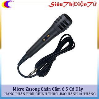 Mic hát karaoke đa năng có chân 6.5- Mic có dây phù hợp cho tất cả các loại loa hỗ trợ mic chân 6.5