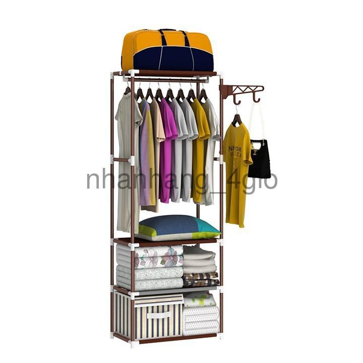 [GIÁ RẺ] Kệ treo quần áo chữ H 4 tầng 3 ngăn (SP yêu thích)